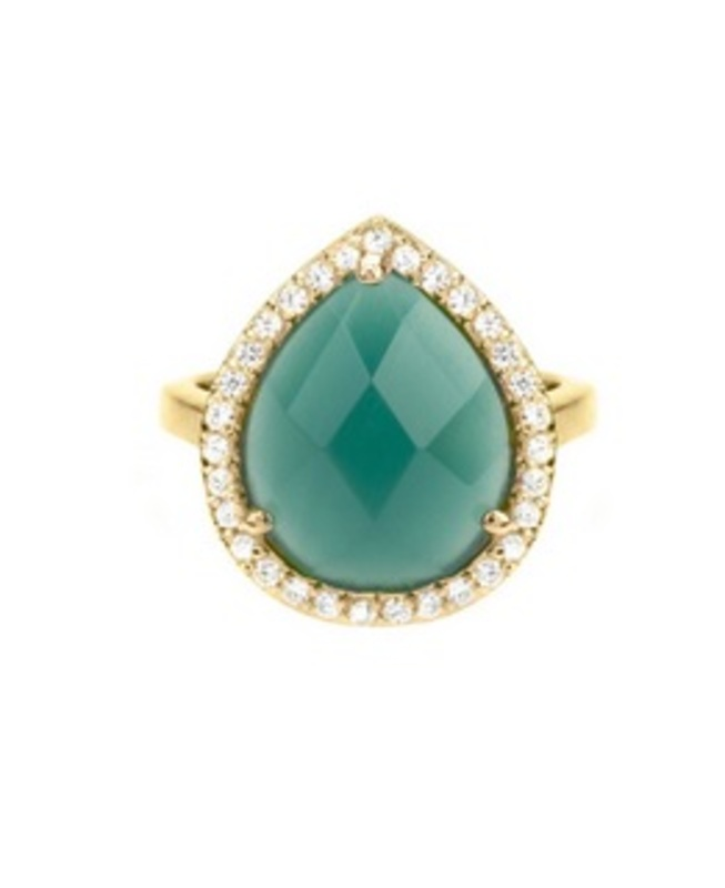Matterial Fix Teal Statement Ring