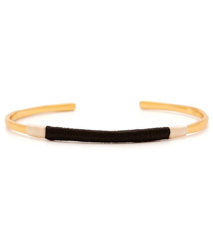 Gorjana Taner Wrapped Cuff in Black and Cream