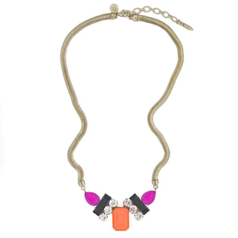 Loren Hope Petra Tri-Color Necklace in Aurora