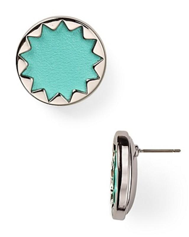 House of Harlow 1960 Sunburst Button Earrings in Robin's Egg