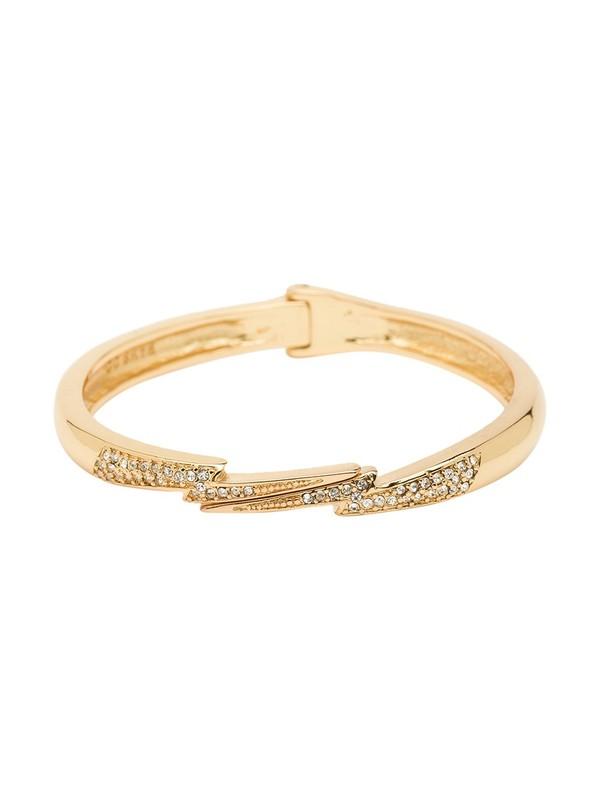 CC Skye Mini Lightning Bolt Bracelet in Gold