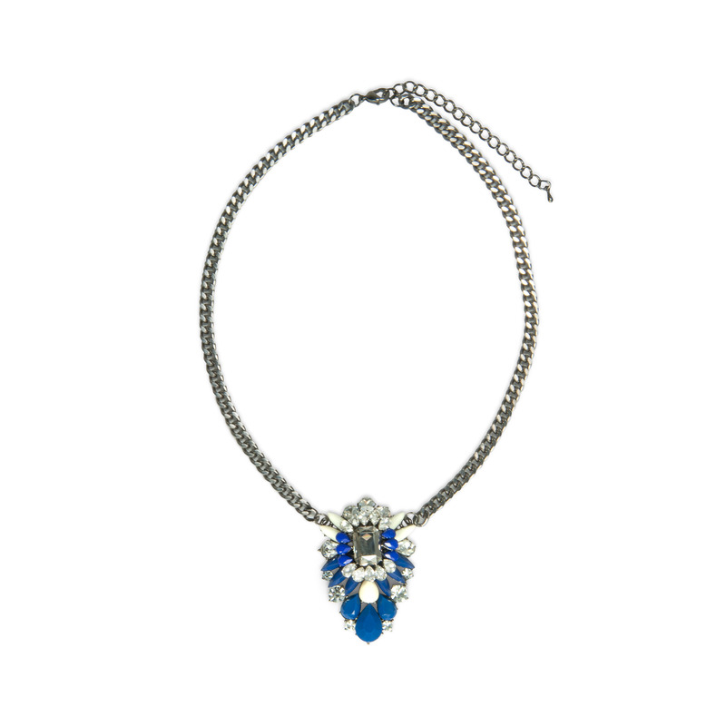 Urban Gem Sophia Necklace in Blue