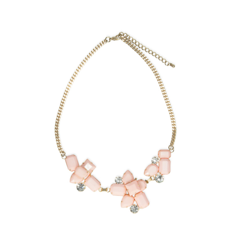 Urban Gem Aria Necklace in Coral