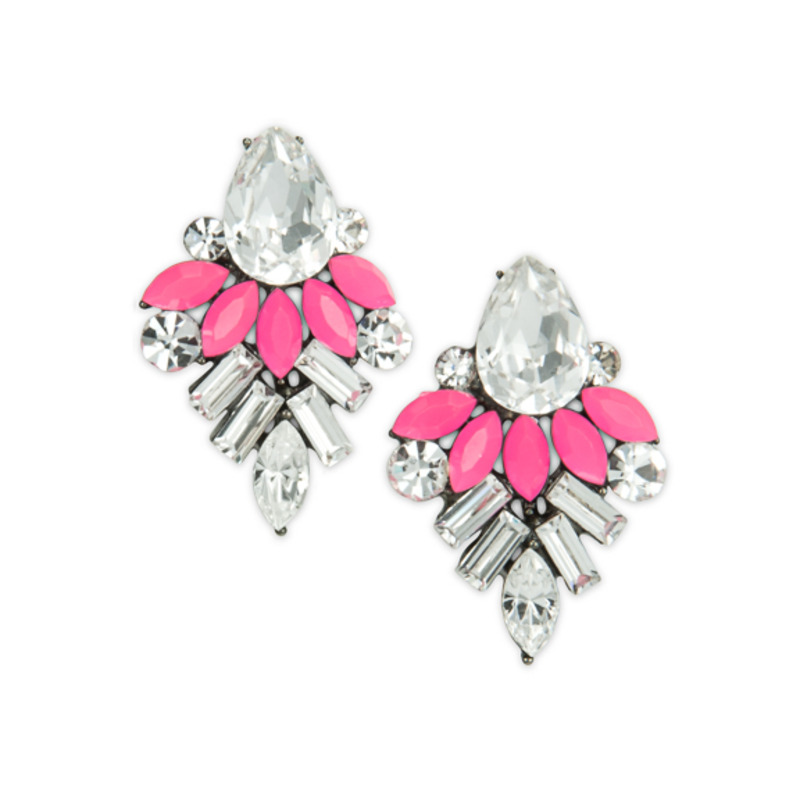 Urban Gem Dahlia Earrings in Pink