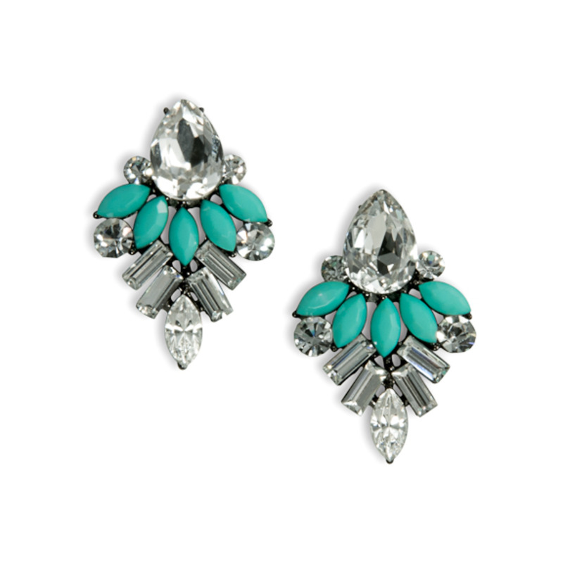 Urban Gem Dahlia Earrings in Mint