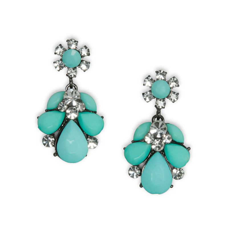 Urban Gem Ava Earrings in Mint