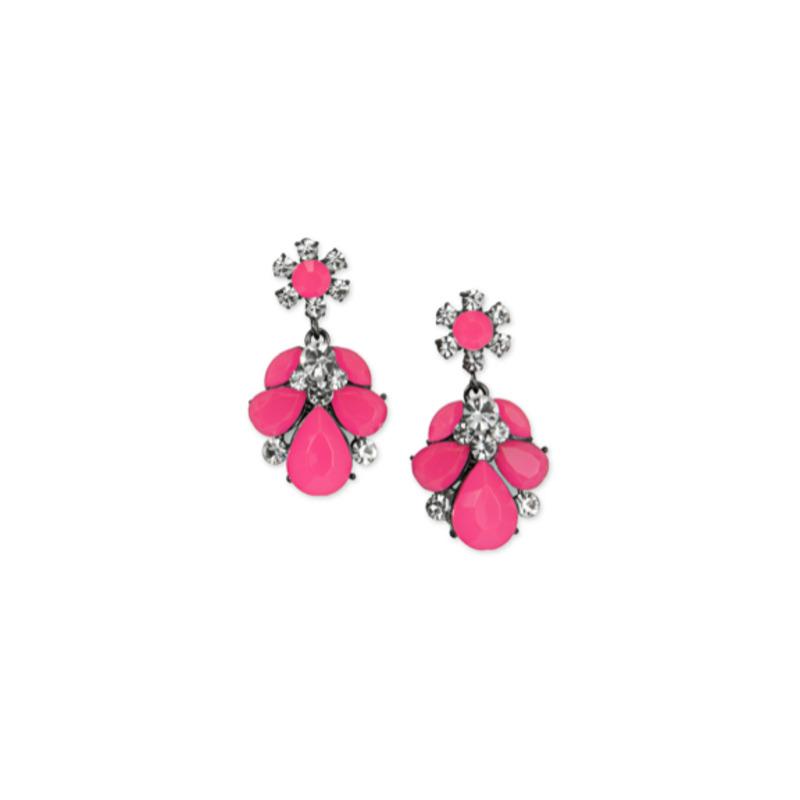 Urban Gem Ava Earrings in Pink