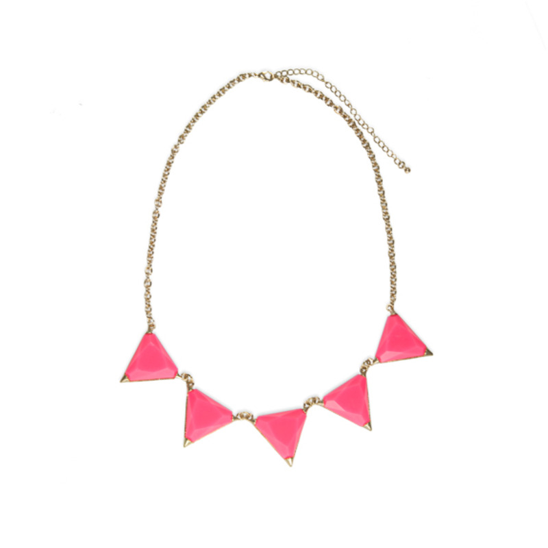 Urban Gem Cecily Necklace in Fuchsia