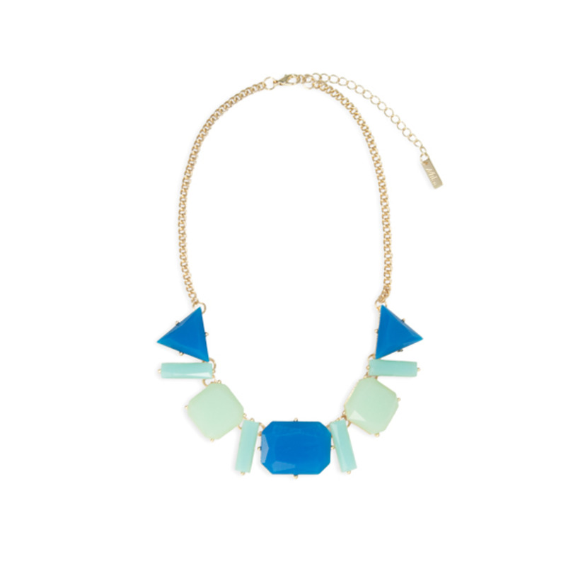 Urban Gem Geometric Color Block Necklace