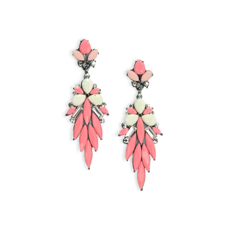 Urban Gem Daffodil Earrings in Pink