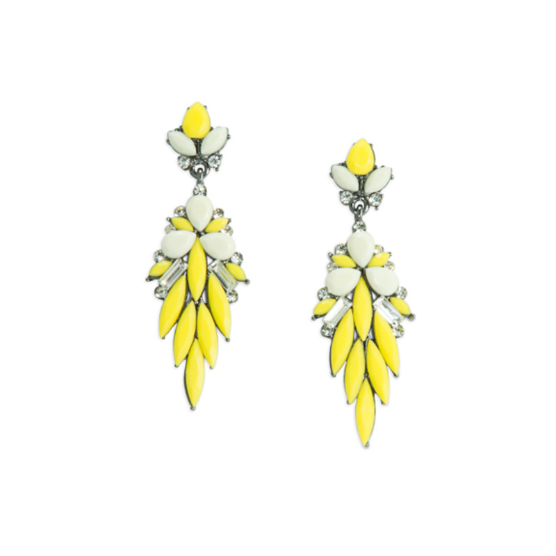 Urban Gem Daffodil Earrings in Yellow