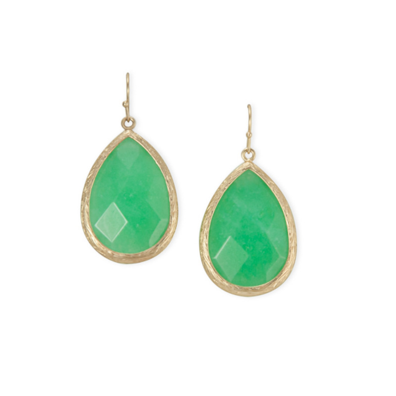 Urban Gem Teardrop Earring in Sea Green