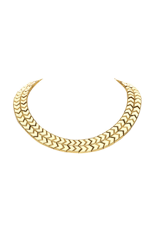 House of Harlow 1960 Blackbird Collar Necklace in Howlite