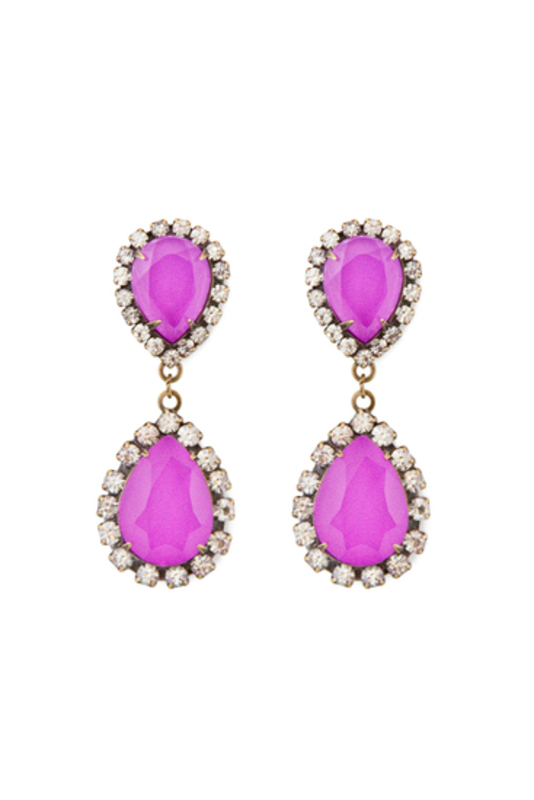 Loren Hope Abba Earrings in Electric Purple
