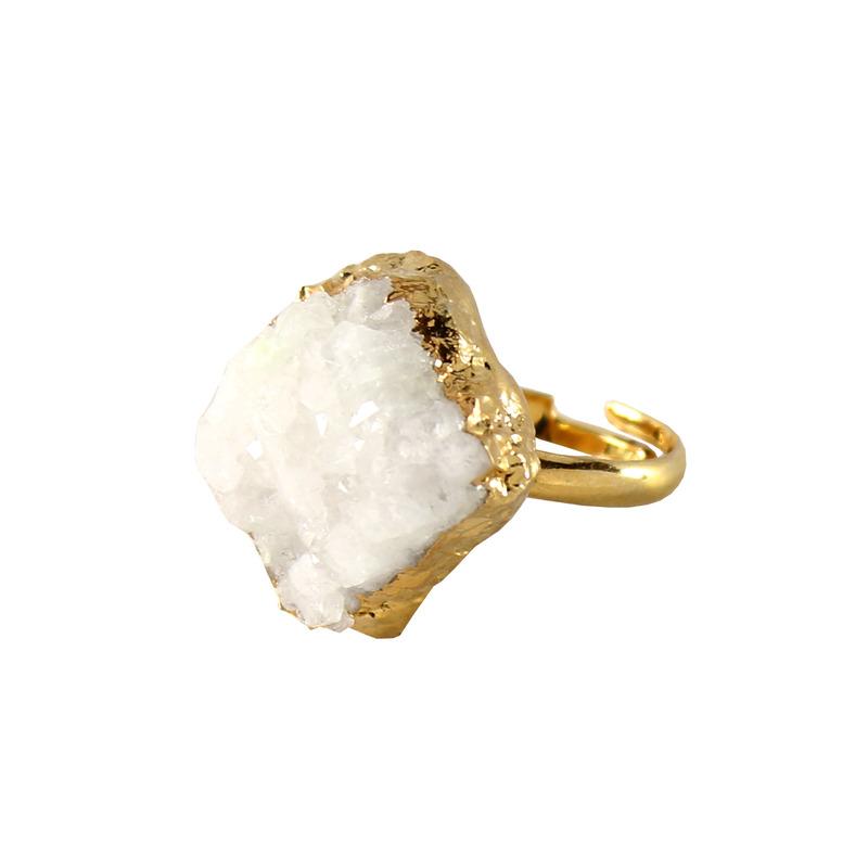 Charlene K White Druzy Ring