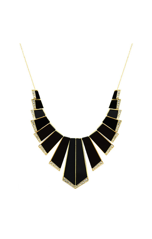 House of Harlow 1960 Nouveau Necklace in Black