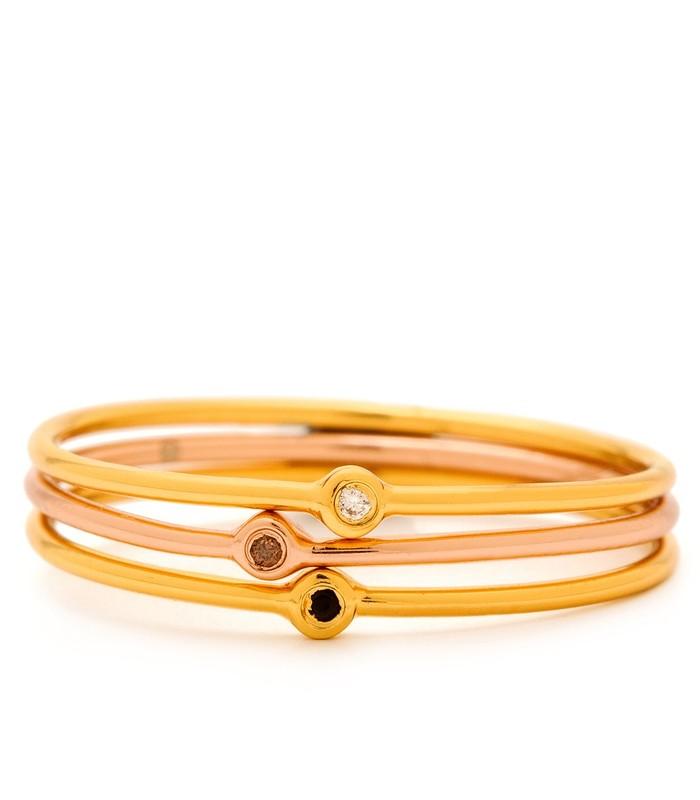 Gorjana Mae Shimmer Solitaire Ring Set