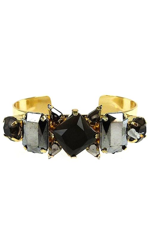 ILY Couture Black Luxe Cuff Bracelet