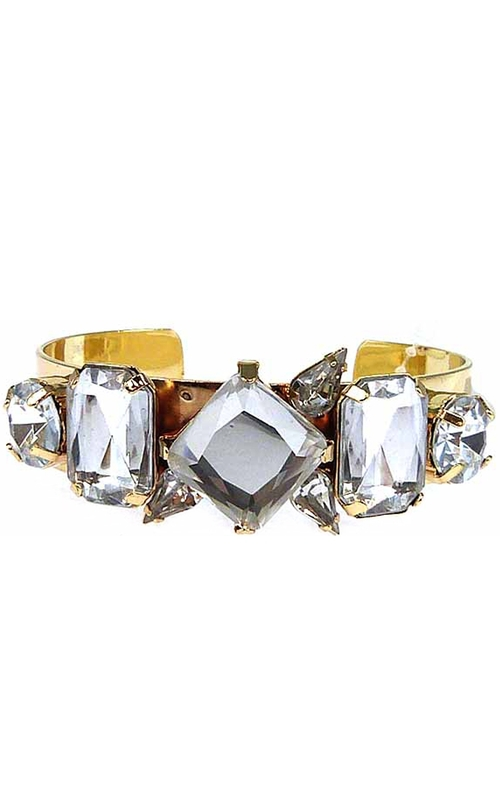 ILY Couture Clear Luxe Cuff Bracelet