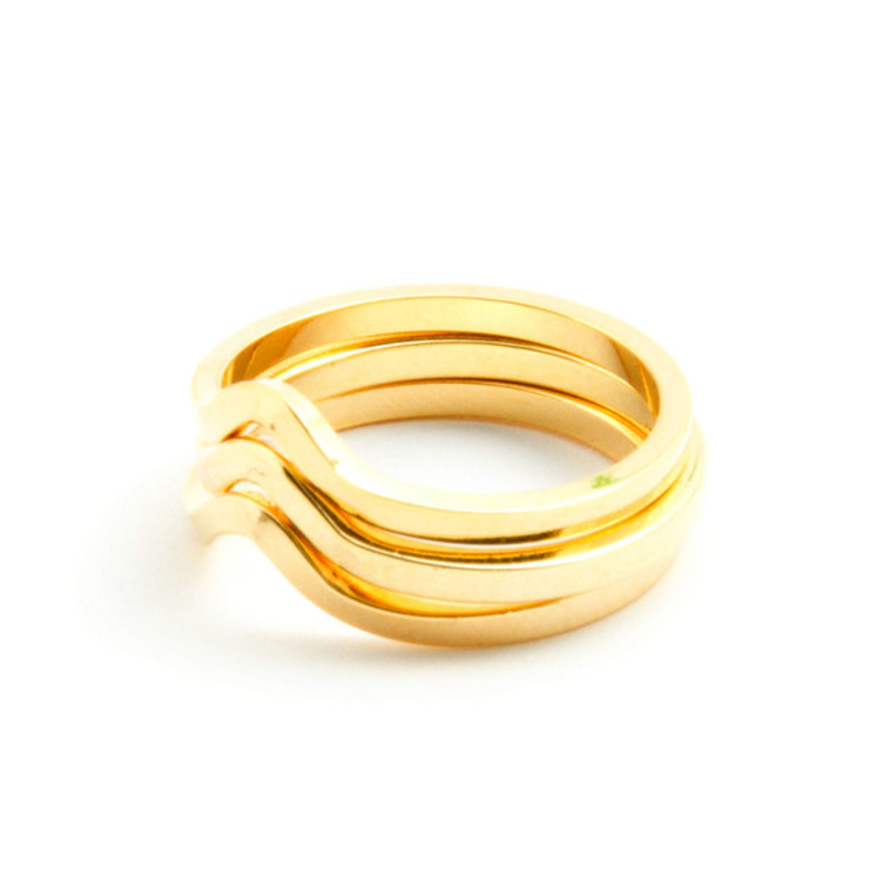 Gamine Zofia Ring Set in Gold
