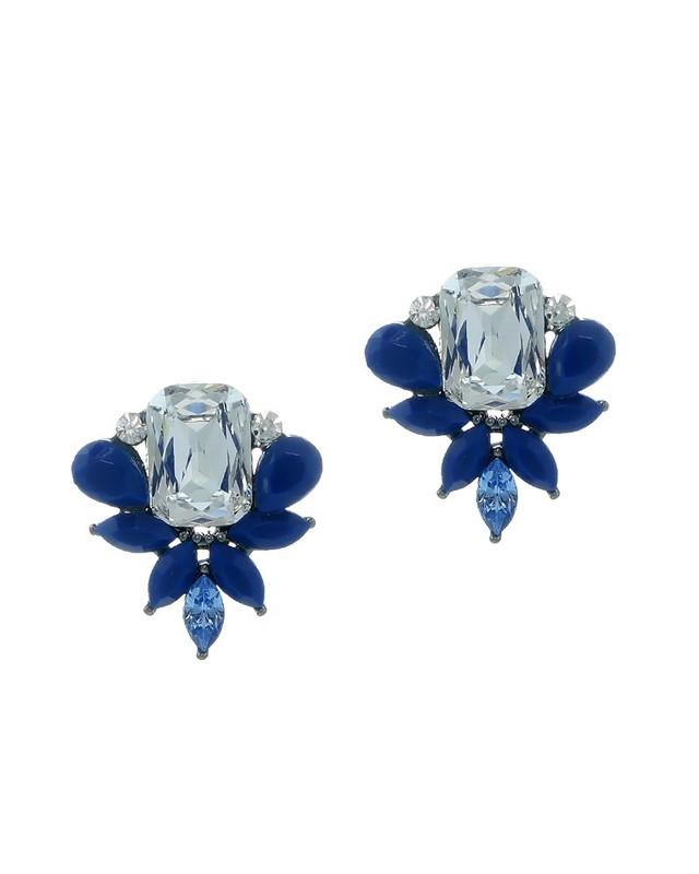 Urban Gem Belle Earrings in Navy
