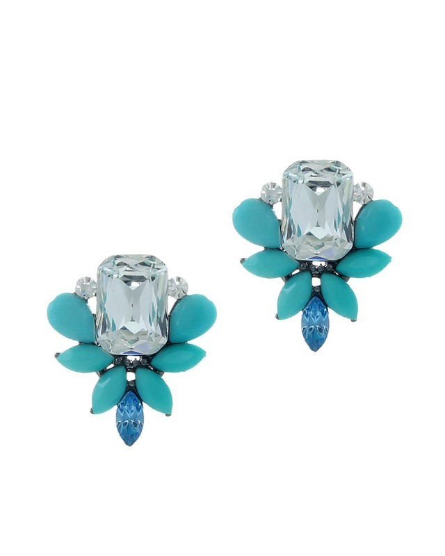 Urban Gem Belle Earrings in Mint