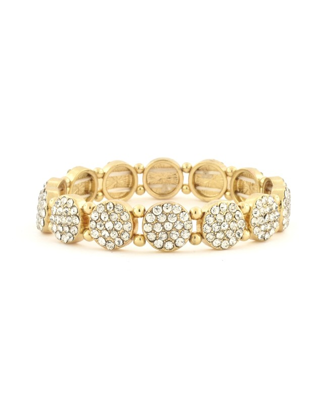 Urban Gem Pavé Disc Bracelet in Gold