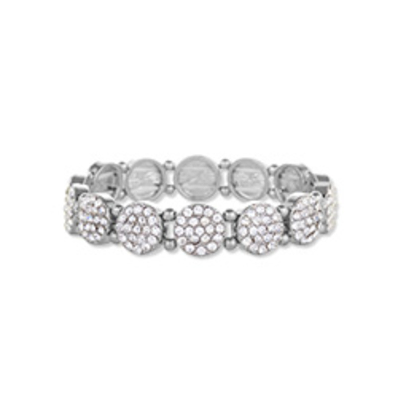Urban Gem Pave Disc Bracelet in Silver