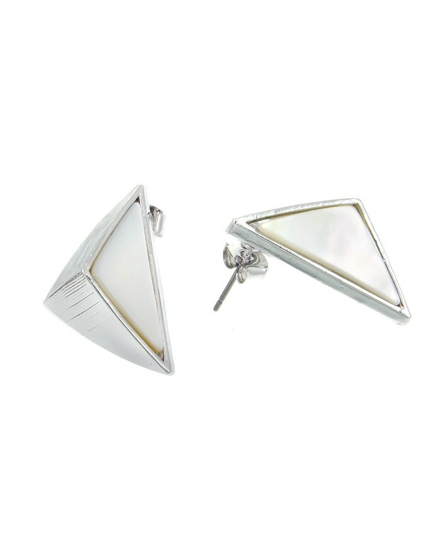 Urban Gem Point It Out Earrings in Silver