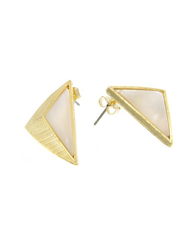 Urban Gem Point It Out Earrings in Gold