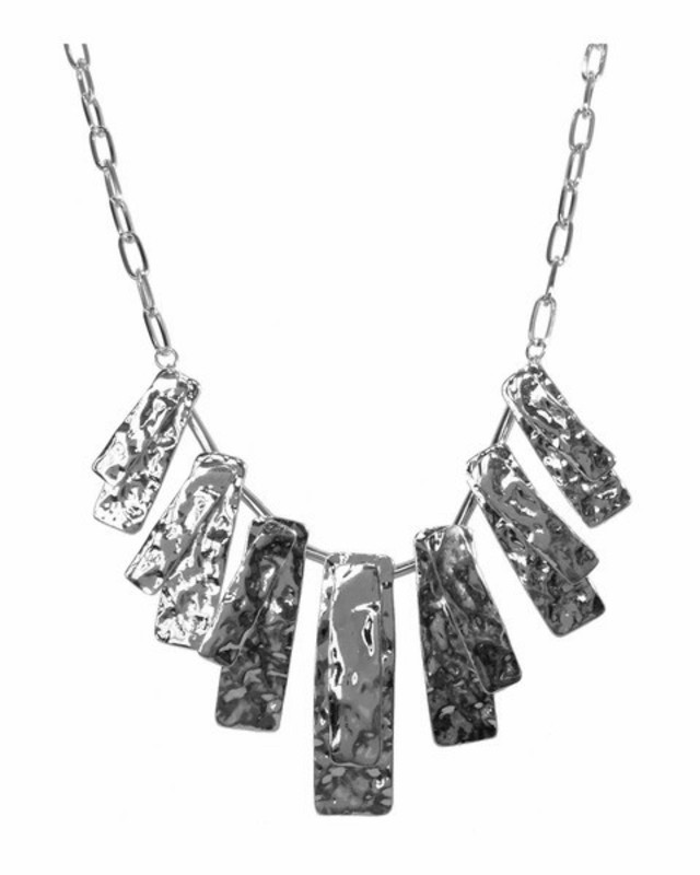 Jules Smith Hammered Petal Necklace in Silver