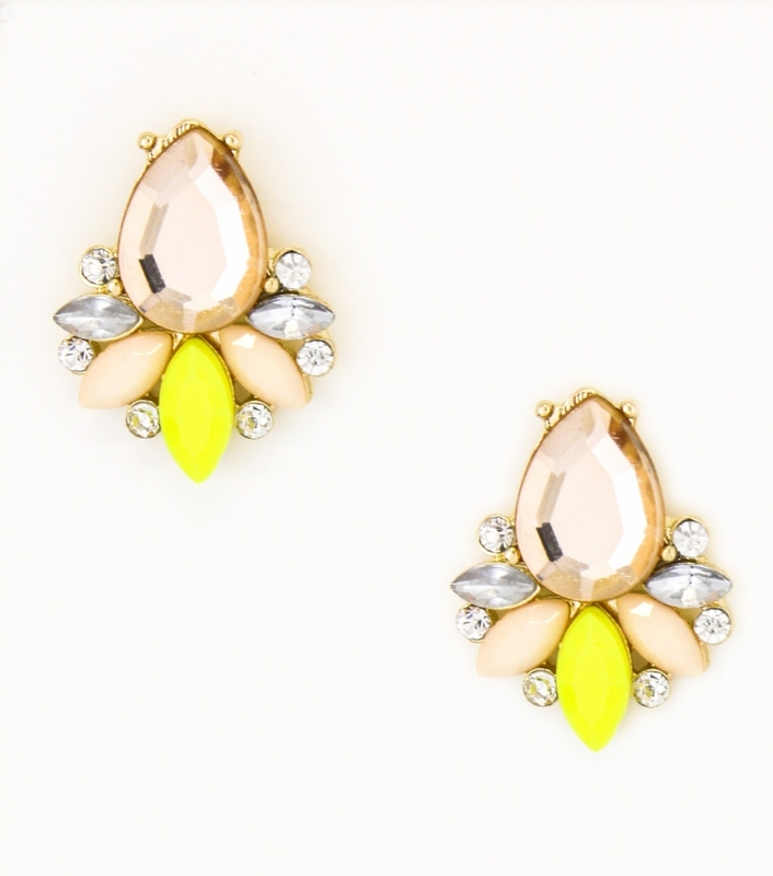 Urban Gem Yellow Pop Studs