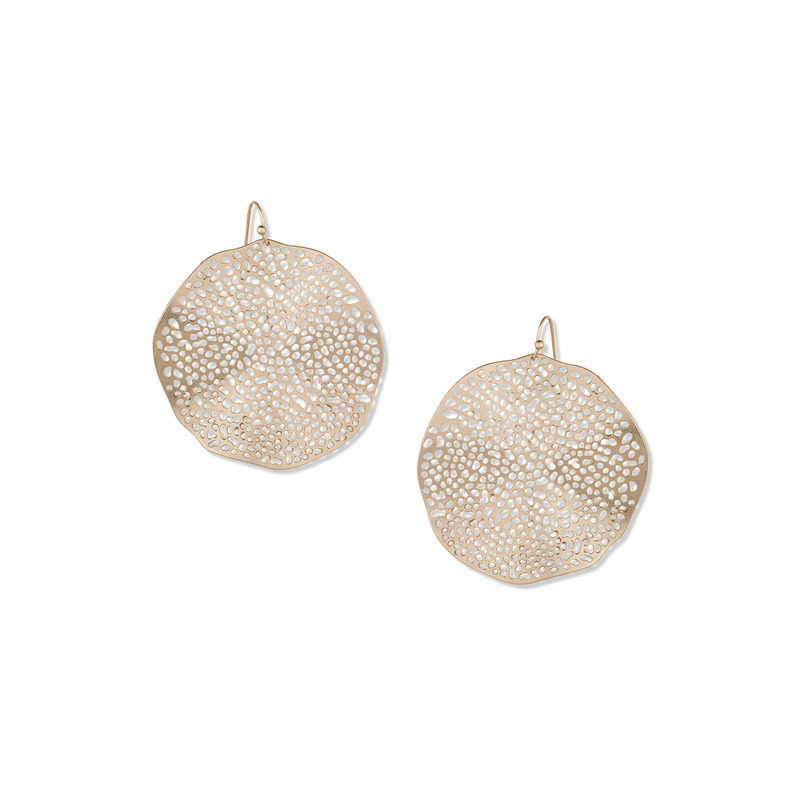 Jules Smith Large Hammered Drop Earrings