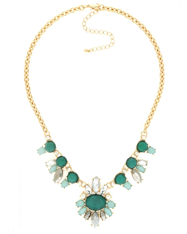 Urban Gem Erin Necklace in Emerald Green