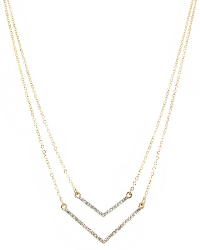 Urban Gem Layered Chevron Necklace