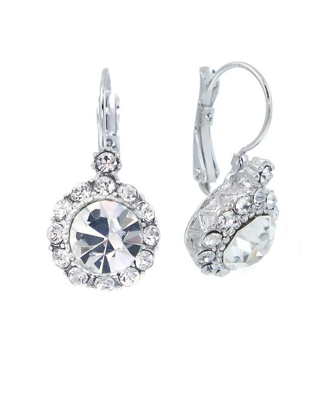 Urban Gem Crystal Lever Earrings
