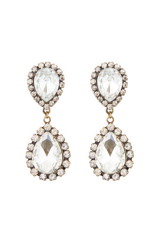 Loren Hope Abba Earrings in Crystal