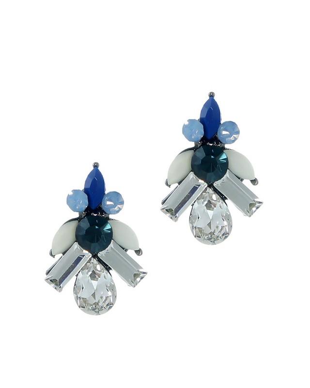 Urban Gem Lulu Earrings in Midnight Blue
