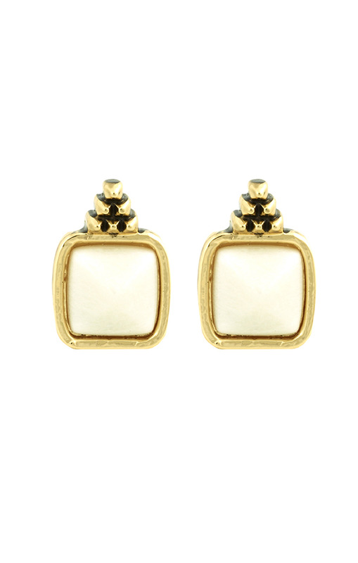 House of Harlow 1960 Sugarloaf Earrings in White
