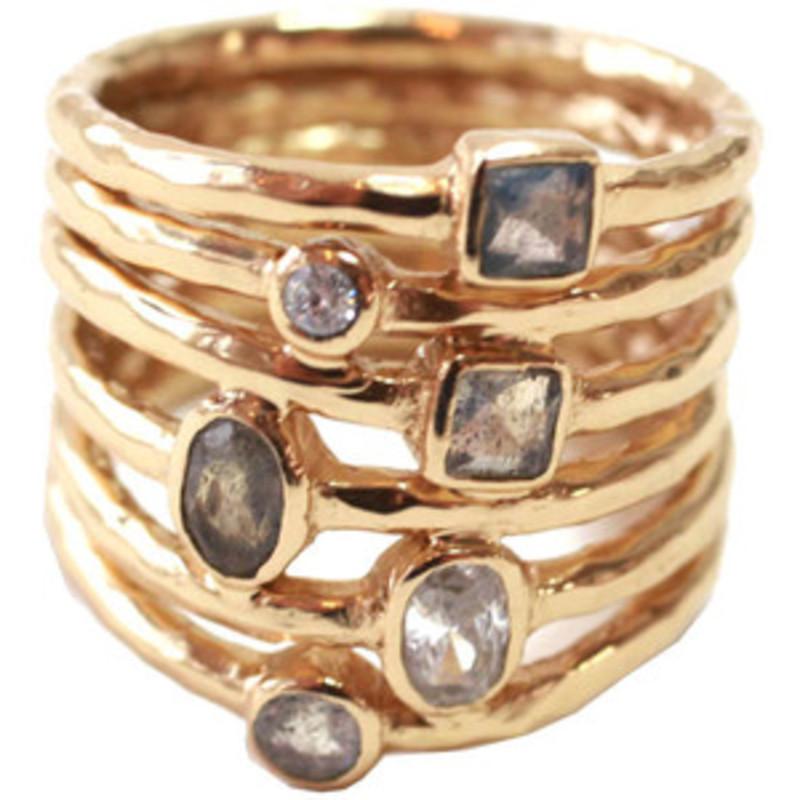 Melinda Maria Monroe Ring Gold
