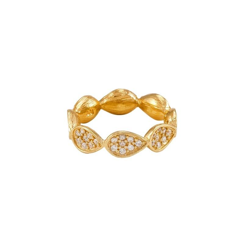 Melinda Maria Leaf Infinity Pavé Ring