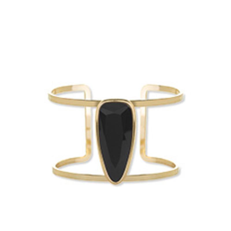 Anuja Tolia Black Stone Cuff