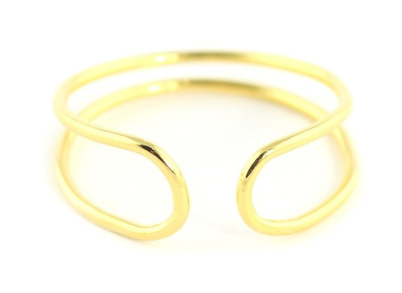 Wanderlust + Co Double-Bar Wrap Gold Ring