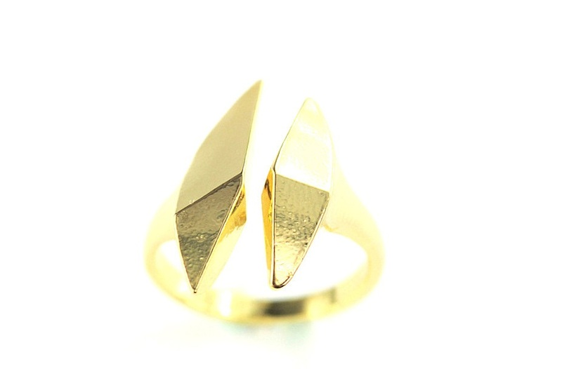 Wanderlust + Co Double Split Gold Ring
