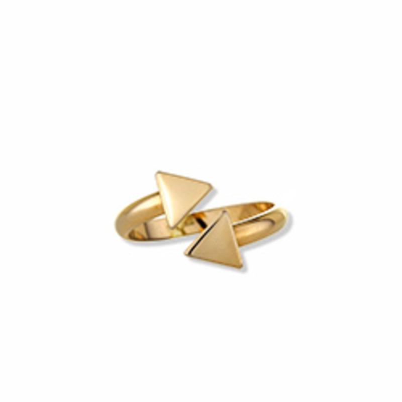 ECRU Metal Triangle Split Ring