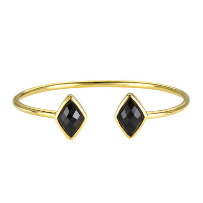 Margaret Elizabeth Diamond Bangle in Black