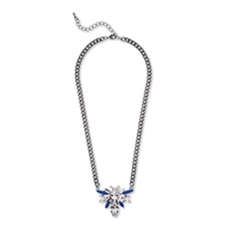 Urban Gem Urban Gem Gunmetal & Blue Montana Necklace