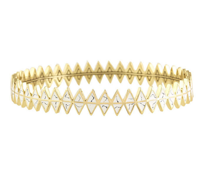 House of Harlow 1960 Reflector Bangle in White