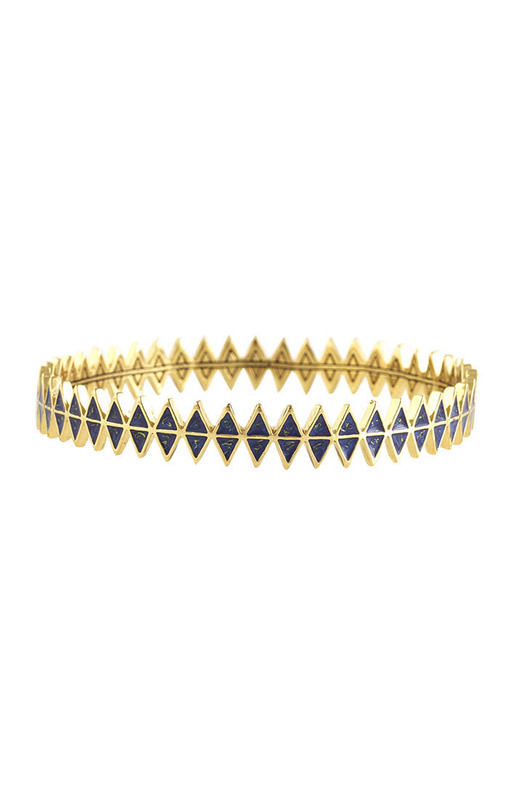 House of Harlow 1960 Reflector Bangle in Blue