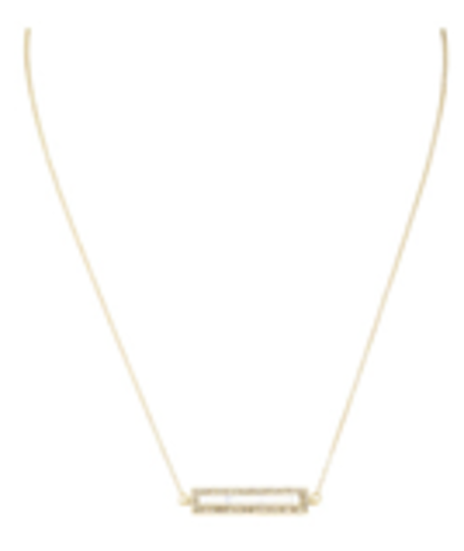 House of Harlow 1960 Illuminating Rectangle Necklace in White